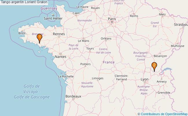 plan Tango argentin Lorient Associations tango argentin Lorient : 3 associations