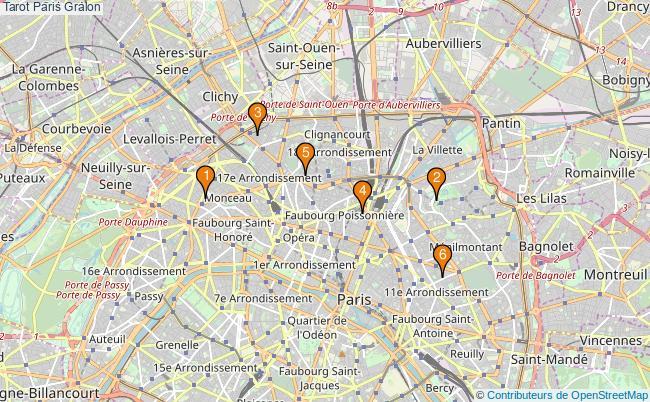 plan Tarot Paris Associations Tarot Paris : 7 associations