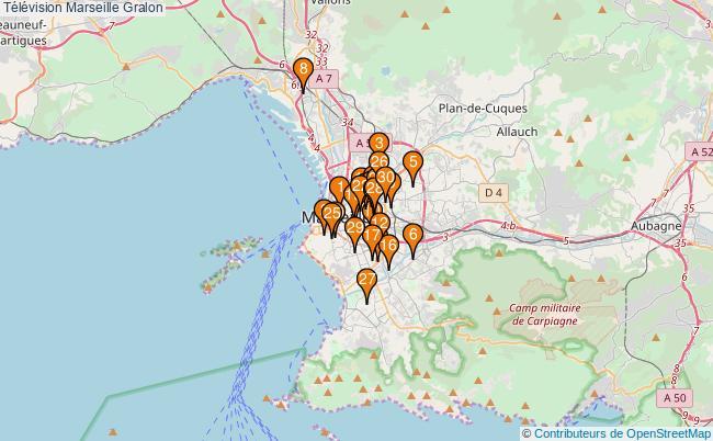 plan Télévision Marseille Associations télévision Marseille : 33 associations