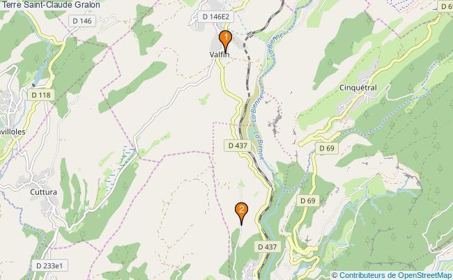 plan Terre Saint-Claude Associations Terre Saint-Claude : 2 associations
