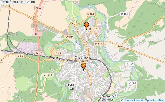 plan Terroir Chaumont Associations Terroir Chaumont : 2 associations