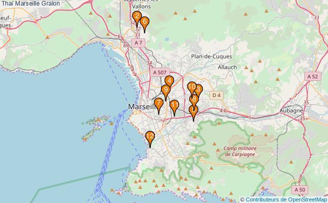 plan Thaï Marseille Associations Thaï Marseille : 13 associations
