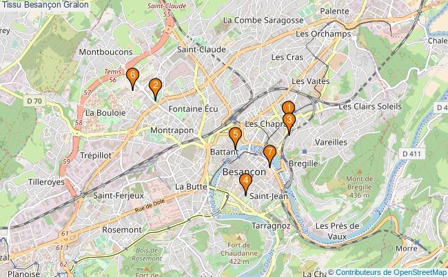 plan Tissu Besançon Associations tissu Besançon : 7 associations