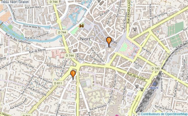 plan Tissu Niort Associations tissu Niort : 3 associations