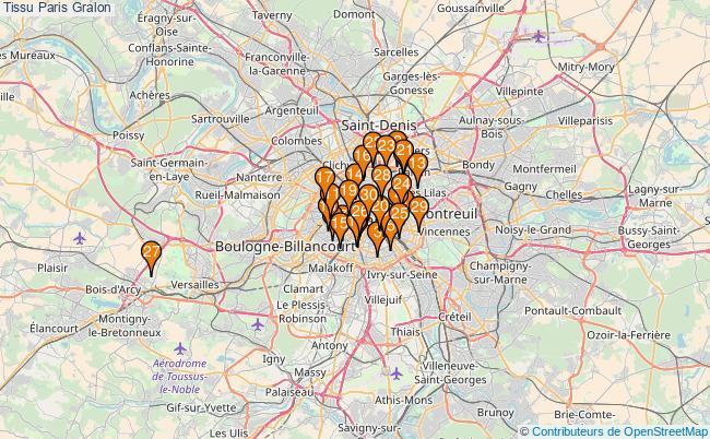 plan Tissu Paris Associations tissu Paris : 126 associations