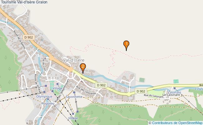 plan Tourisme Val-d'Isère Associations Tourisme Val-d'Isère : 2 associations