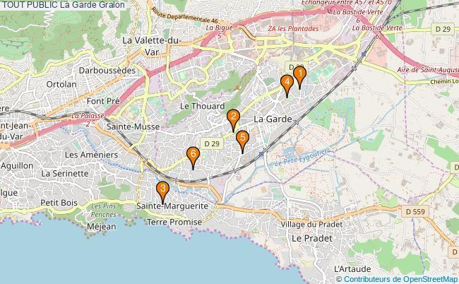 plan TOUT PUBLIC La Garde Associations TOUT PUBLIC La Garde : 6 associations
