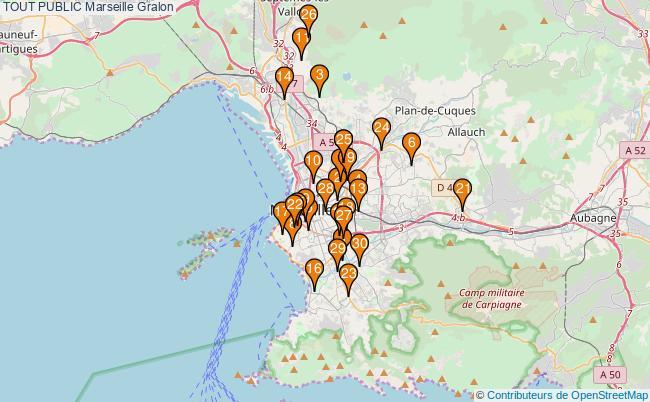 plan TOUT PUBLIC Marseille Associations TOUT PUBLIC Marseille : 260 associations