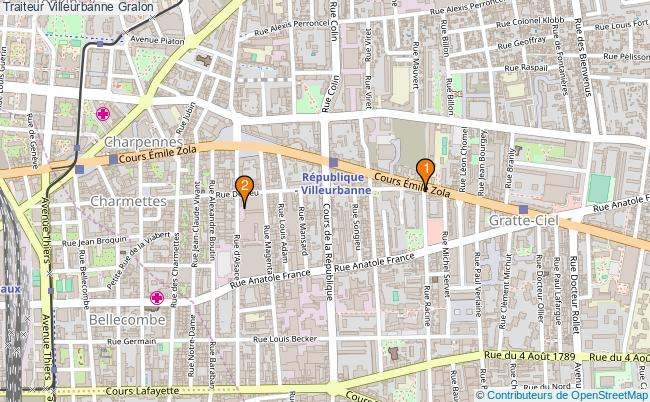 plan Traiteur Villeurbanne Associations traiteur Villeurbanne : 2 associations
