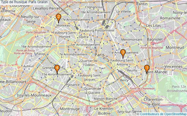 plan Type de musique Paris Associations type de musique Paris : 4 associations