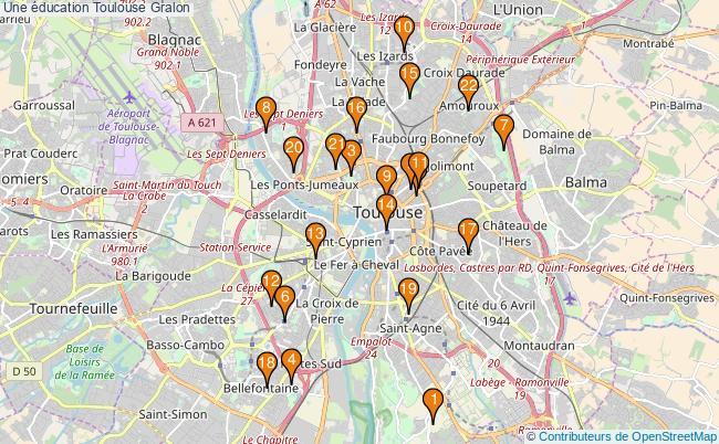 plan Une éducation Toulouse Associations une éducation Toulouse : 22 associations