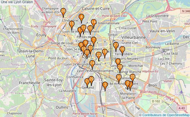 plan Une vie Lyon Associations une vie Lyon : 33 associations