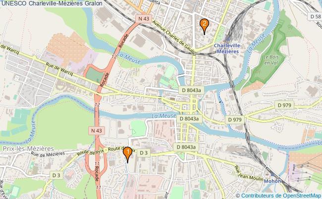 plan UNESCO Charleville-Mézières Associations UNESCO Charleville-Mézières : 2 associations