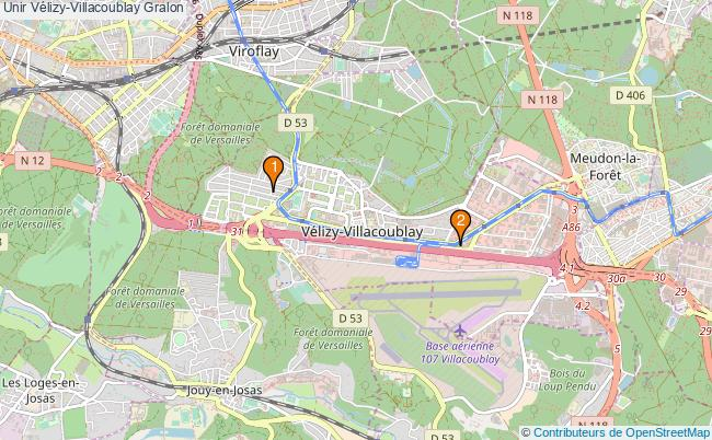 plan Unir Vélizy-Villacoublay Associations unir Vélizy-Villacoublay : 2 associations