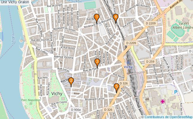 plan Unir Vichy Associations unir Vichy : 5 associations