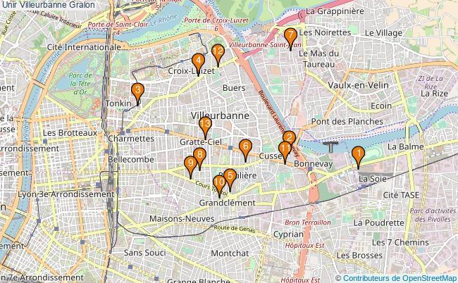 plan Unir Villeurbanne Associations unir Villeurbanne : 15 associations