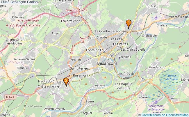 plan Utilité Besançon Associations utilité Besançon : 2 associations