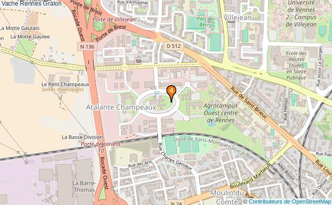 plan Vache Rennes Associations vache Rennes : 4 associations