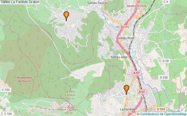 plan Vallée La Farlède Associations vallée La Farlède : 2 associations