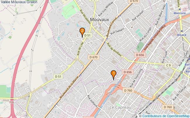 plan Vallée Mouvaux Associations vallée Mouvaux : 2 associations