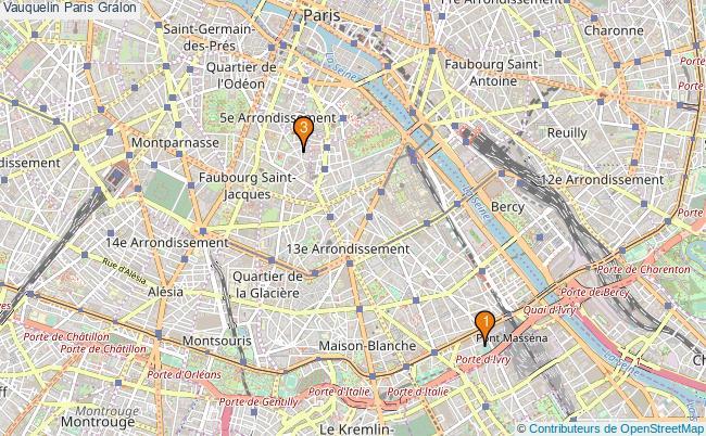 plan Vauquelin Paris Associations Vauquelin Paris : 3 associations