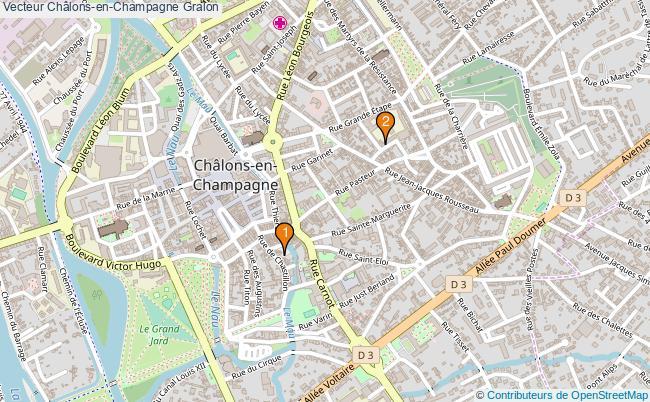 plan Vecteur Châlons-en-Champagne Associations vecteur Châlons-en-Champagne : 2 associations