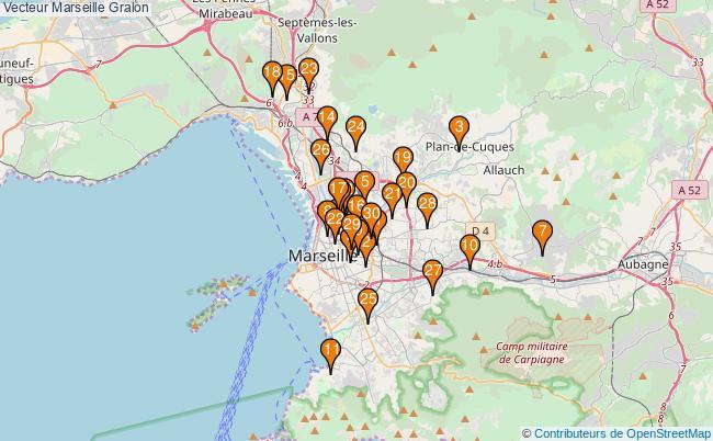 plan Vecteur Marseille Associations vecteur Marseille : 52 associations
