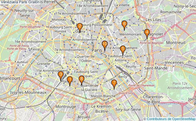 plan Vénézuela Paris Associations Vénézuela Paris : 11 associations