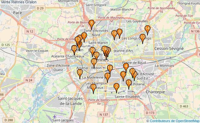 plan Vente Rennes Associations Vente Rennes : 144 associations