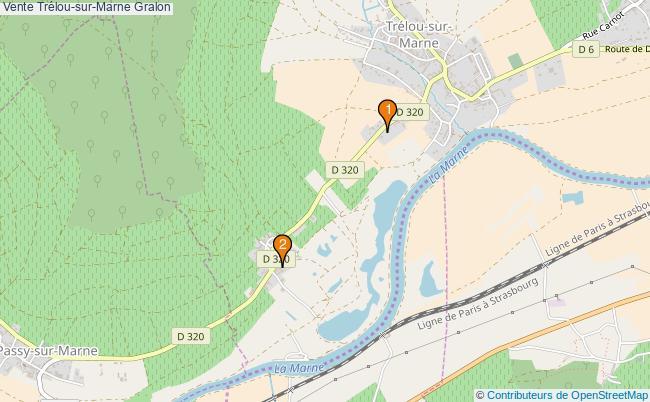 plan Vente Trélou-sur-Marne Associations Vente Trélou-sur-Marne : 2 associations