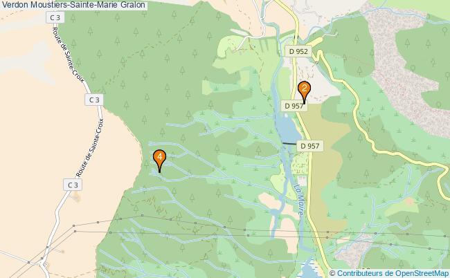 plan Verdon Moustiers-Sainte-Marie Associations Verdon Moustiers-Sainte-Marie : 4 associations