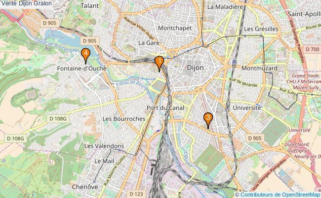 plan Vérité Dijon Associations Vérité Dijon : 4 associations