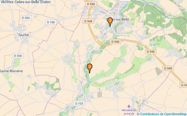 plan Verrines Celles-sur-Belle Associations Verrines Celles-sur-Belle : 3 associations