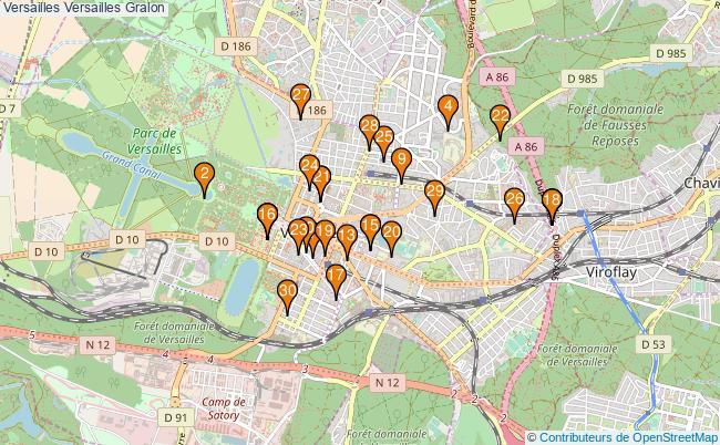 plan Versailles Versailles Associations Versailles Versailles : 164 associations
