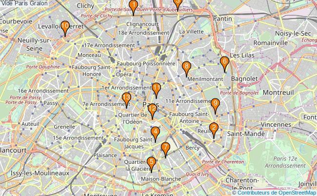 plan Vide Paris Associations Vide Paris : 16 associations