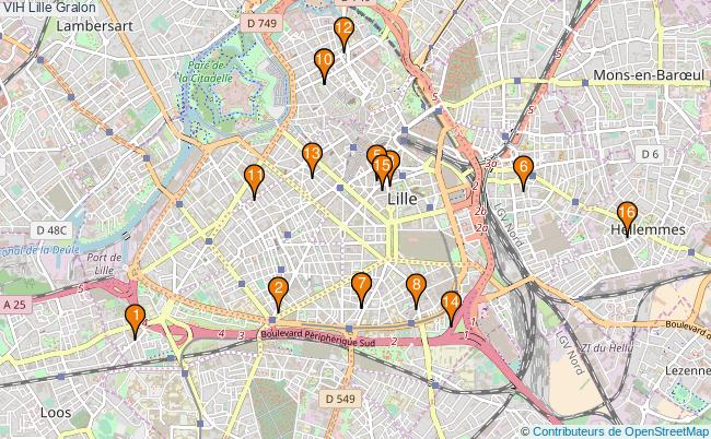 plan VIH Lille Associations VIH Lille : 18 associations