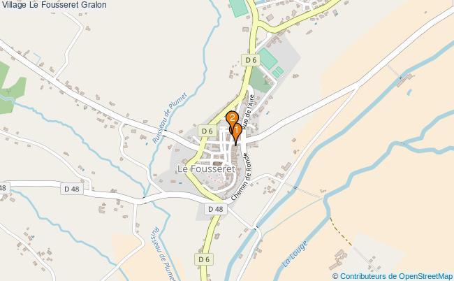 plan Village Le Fousseret Associations village Le Fousseret : 2 associations
