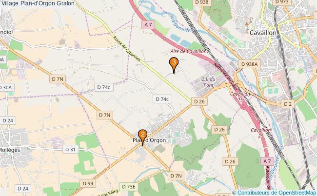 plan Village Plan-d'Orgon Associations village Plan-d'Orgon : 3 associations
