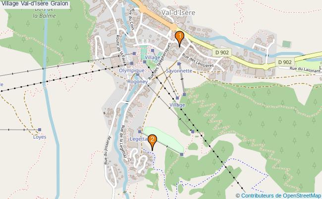 plan Village Val-d'Isère Associations village Val-d'Isère : 2 associations