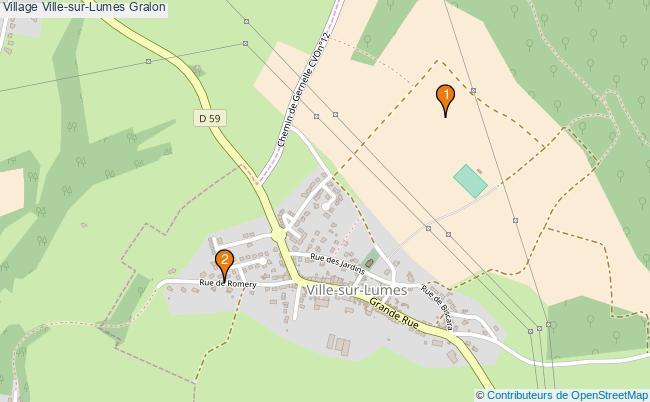 plan Village Ville-sur-Lumes Associations village Ville-sur-Lumes : 2 associations