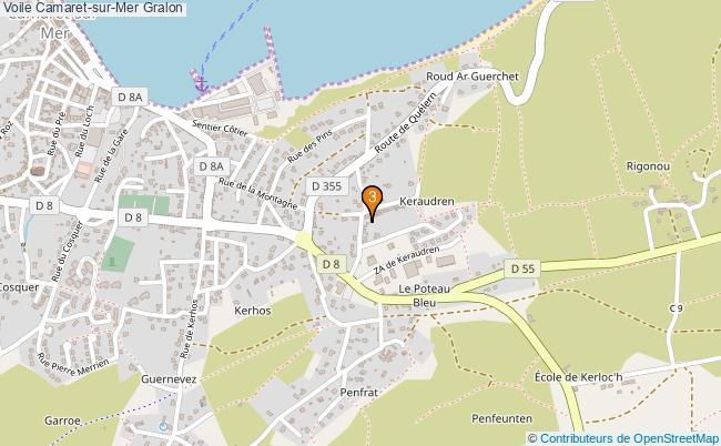 plan Voile Camaret-sur-Mer Associations voile Camaret-sur-Mer : 3 associations