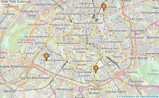 plan Voiles Paris Associations Voiles Paris : 3 associations
