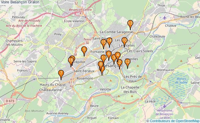 plan Voire Besançon Associations Voire Besançon : 16 associations