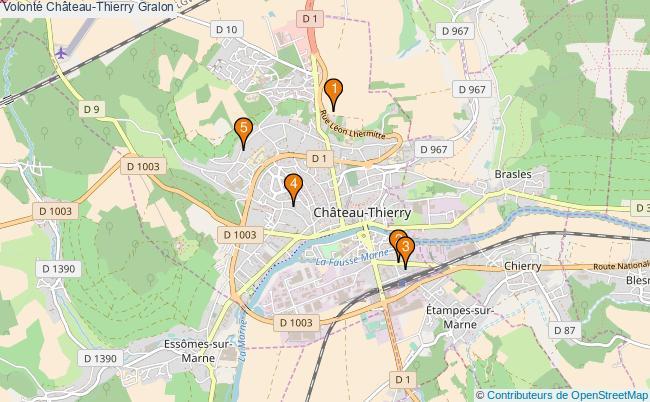 plan Volonté Château-Thierry Associations Volonté Château-Thierry : 5 associations