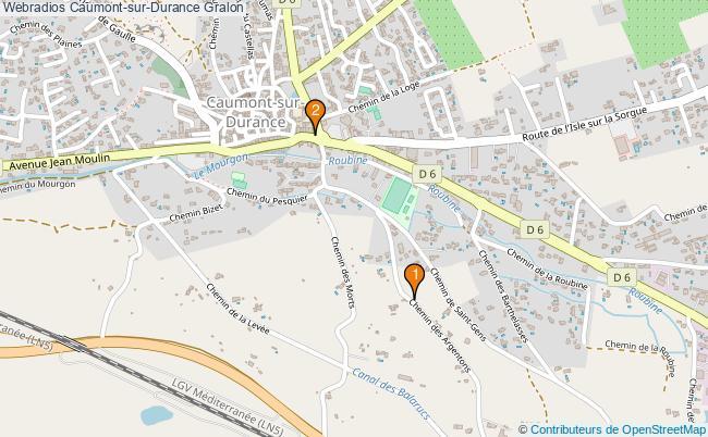 plan Webradios Caumont-sur-Durance Associations webradios Caumont-sur-Durance : 2 associations