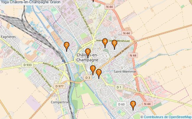 plan Yoga Châlons-en-Champagne Associations Yoga Châlons-en-Champagne : 9 associations