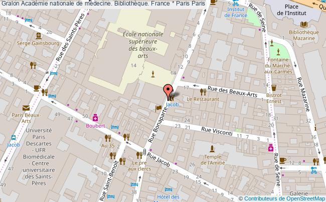 plan association Académie Nationale De Médecine. Bibliothèque. France * Paris Paris