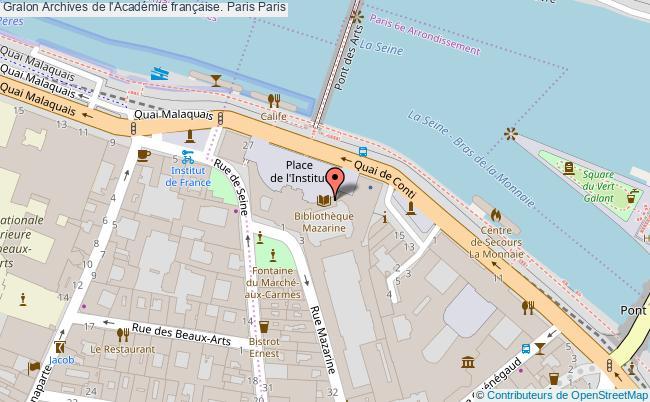 plan association Archives De L'académie Française. Paris Paris