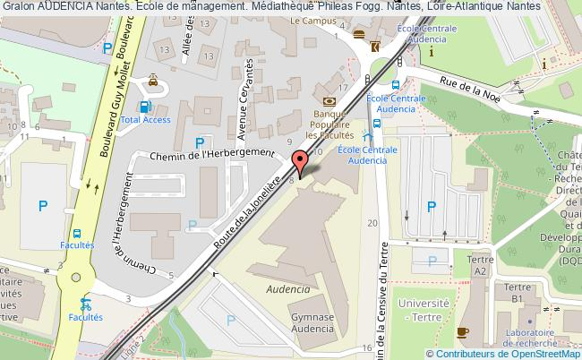 plan association Audencia Nantes. Ecole De Management. Médiathèque Phileas Fogg. Nantes, Loire-atlantique Nantes