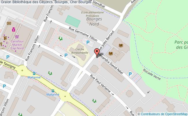 plan association Bibliothèque Des Gibjoncs. Bourges, Cher Bourges